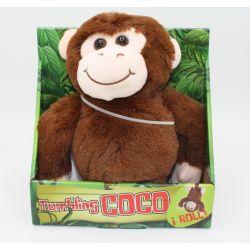 Apan Coco som gör kullerbyttor med ljud Brun 25 cm