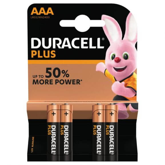 AAA, Duracell Plus Power Batterier 4 st.