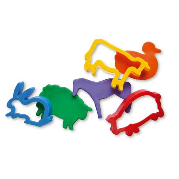 Djurformar för leklera Jovi