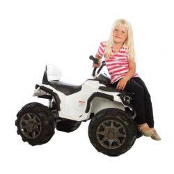 Jamara Elfyrhjuling ATV Barn Protector Vit 12 volt