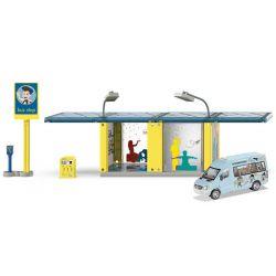 Siku Busshållplats med buss