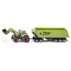 Claas traktor med Dolly Tipp. Siku. Skala 1:50