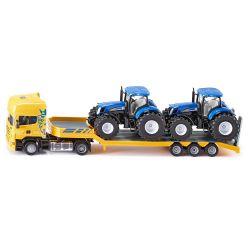 Siku Scania lastbil med New Holland traktorer. Skala 1:50