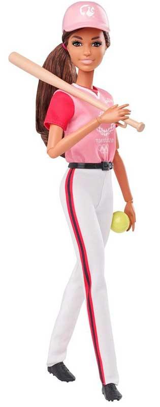 Barbie Olympics Softball Docka