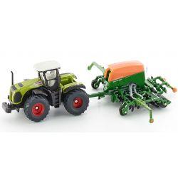 Claas Xerion traktor med Amazone såmaskin. Siku.