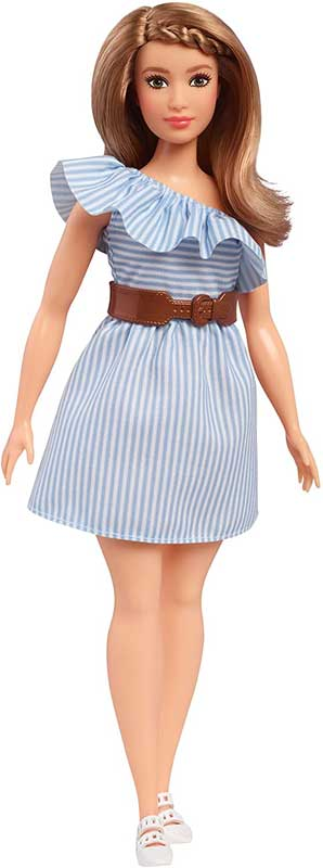 Barbie Fashionista Doll Purely Pinstriped Curvy