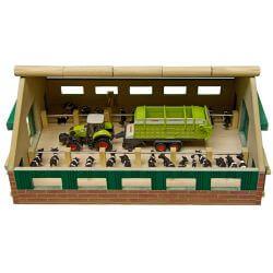 Bondgård för kossor och Siku traktor. Kids Globe. Skala 1:87