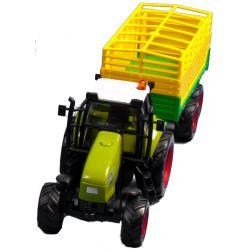 Leksakstraktor med boksapsvagn. Kids Globe