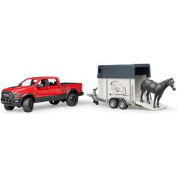 Dodge RAM Power 2500 med hästtransport. Bruder. Skala 1:16