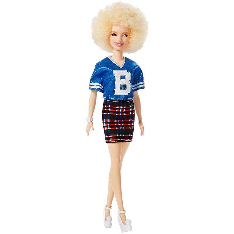 REA-Barbiedocka Fashionistas Doll No. 91 Original med ljus afrofrisyr-REA