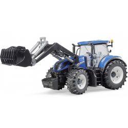Bruder New Holland T7.315 traktor. Frontlastare. 1:16