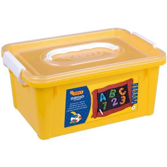 Leklera Soft dough 250 gram Blandiver med bokstäver och siffror